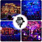 LED-Snowfall-LightMUEQU-Waterproof-Rotating-Christmas-Spotlights-LED-Projector-Light-with-Remote-ControlOutdoor-Indoor-Landscape-Snowflake-Decorative-lighting-for-Garden-Wedding-Party-0-0