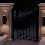 Luxury-Contemporary-Outdoor-Wall-Light-Medium-Size-18H-x-6W-with-Art-Deco-Style-Elements-Olde-Bronze-Finish-UHP1065-from-The-Hollywood-Collection-by-Urban-Ambiance-0-0