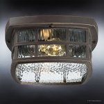 Luxury-Craftsman-Outdoor-Ceiling-Light-Small-Size-575H-x-12W-with-Tudor-Style-Elements-Highly-Detailed-Design-Oil-Rubbed-Parisian-Bronze-Finish-and-Water-Glass-UQL1249-by-Urban-Ambiance-0-2