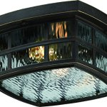 Luxury-Craftsman-Outdoor-Ceiling-Light-Small-Size-575H-x-12W-with-Tudor-Style-Elements-Highly-Detailed-Design-Oil-Rubbed-Parisian-Bronze-Finish-and-Water-Glass-UQL1249-by-Urban-Ambiance-0