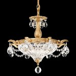 Milano-2-Light-Chandelier-in-Heirloom-Gold-with-Clear-Optic-Crystal-0-0