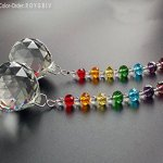 Newmerry-30mm-Crystal-Prism-Ball-Chakra-Colors-Rondelle-Beads-Strand-Design-Rainbow-SuncatcherPack-of-2-0-0