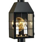 Norwell-Lighting-1093-BL-CL-American-Heritage-Two-Light-Outdoor-Wall-Sconce-Black-Finish-with-Clear-Glass-0