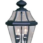 Outdoor-Pendants-2-Light-with-Clear-Beveled-Glass-Black-Finish-Size-10-in-120-Watts-World-of-Crystal-0