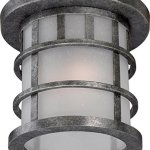 Outdoor-Wall-Sconces-2-Light-With-Aged-Silver-Finish-A19-Incandescent-11-inch-120-Watts-0