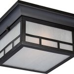 Outdoor-Wall-Sconces-2-Light-With-Stone-Black-Finish-A19-Incandescent-11-inch-120-Watts-0