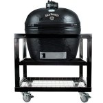 Primo-Oval-XL-400-Ceramic-Smoker-Grill-Jack-Daniels-Edition-On-Cart-0