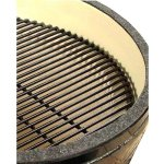 Primo-Round-LG-280-Ceramic-Smoker-Grill-On-Cypress-Table-0-2
