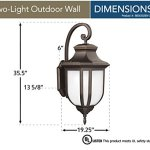 Sea-Gull-Lighting-8836302EN-71-Childress-Two-Light-Outdoor-Wall-Lantern-with-Glass-Panels-Antique-Bronze-Finish-0