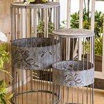 Sullivans-Bird-Design-Pedestal-Metal-Gray-Garden-Equipment-Set-of-2-0-0