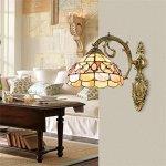 TOYM-European-camellia-Seashell-bedroom-living-room-Bathroom-wall-lamp-Mirror-front-lamps-American-Pastoral-wall-lamp-0