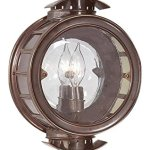 Troy-Lighting-Charleston-1-Light-Outdoor-Wall-Lantern-Heritage-Bronze-Finish-with-Antique-Clear-Glass-0