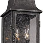 Troy-Lighting-Larchmont-Outdoor-Wall-Lantern-Aged-Pewter-Finish-with-Clear-Seeded-Glass-0