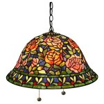 Warehouse-of-Tiffany-Southern-Belle-Rose-ES-93-Pendant-Light-0