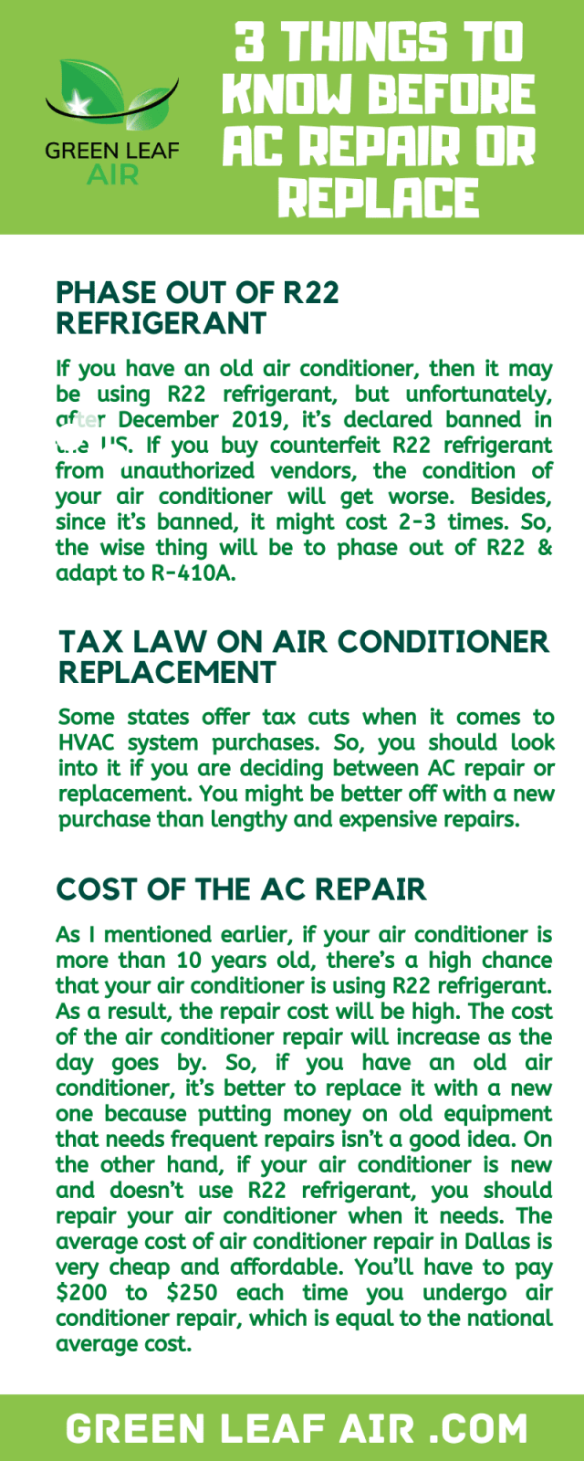 3 Things to Know Before AC Repair or Replace