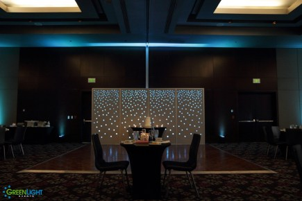 Custom backdrop by GreenLight Events