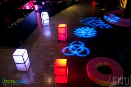 LED cubes by GreenLight Events