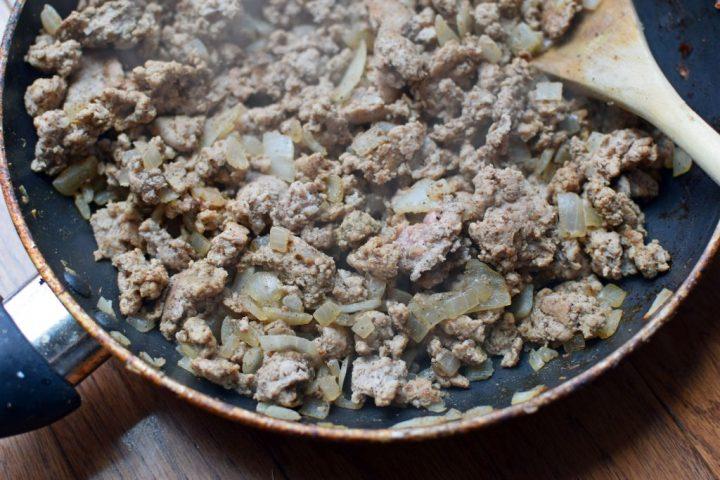 browned ground turkey