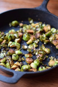 Skillet Brussels Sprouts with Garlic and BalsamicPortrait