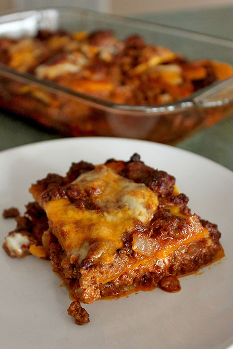 Chipotle Beef and Butternut Bake