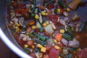 Maryland-ish Crab Soup Close Up