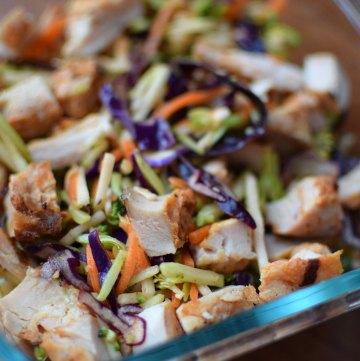 Rainbow Salad with Chicken and Maple Cayenne Vinaigrette Portrait