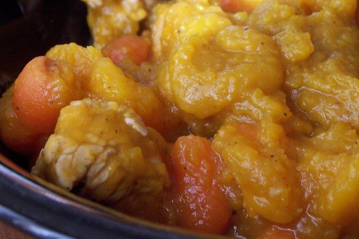 Butternut Carrot Chicken Soup/Stew