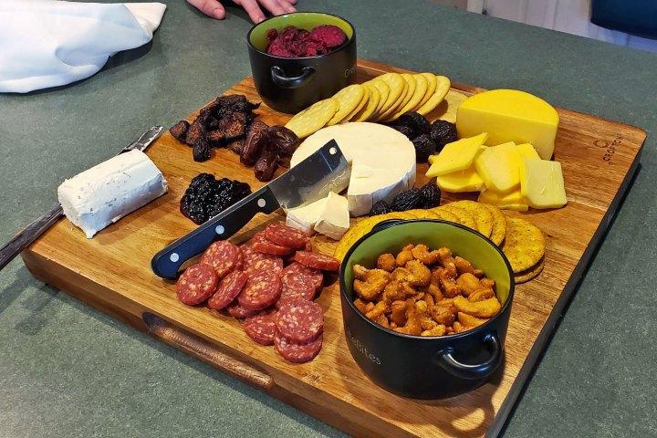 Mardi Gras Cheese Board - Date Night IN