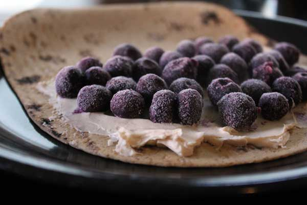 Blueberry Breakfast Quesadilla Uncooked