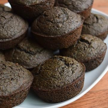Chocolate-Kale Banana Muffins