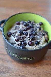 Chocolate Blueberry Protein Yogurt Portrait