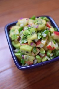 Kiwi and Nectarine Salsa with Avocado Portrait