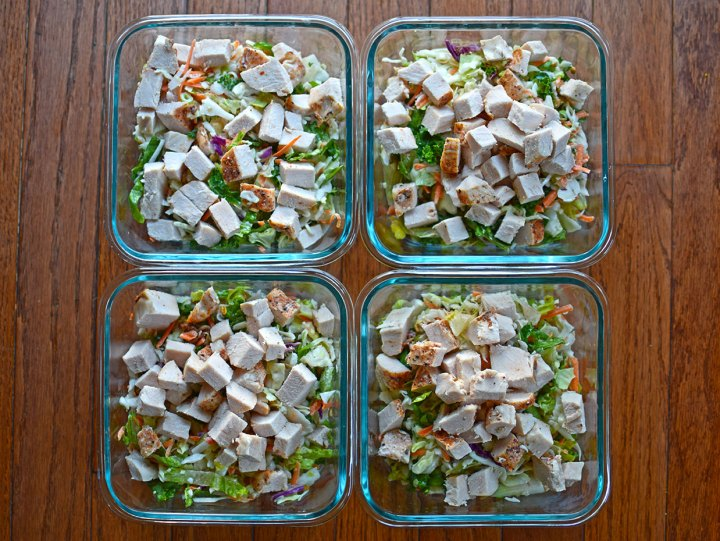Sunflower Crunch Salad with Turkey - A Lunch Prep Idea