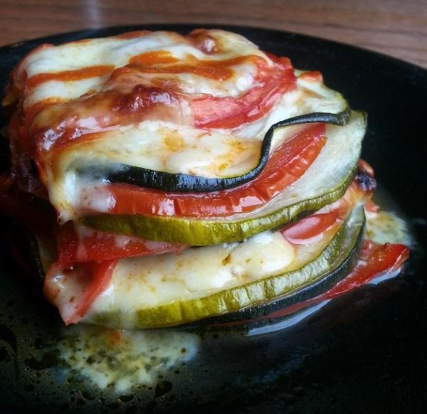 Cheesy Zucchini Tomato Bake - leftovers