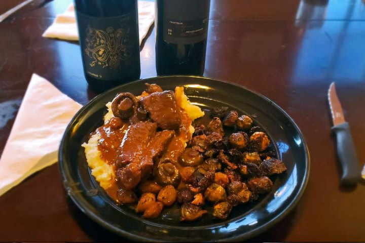 Beef Bourguignon - The plate