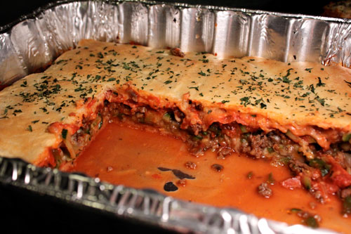 Deep Dish Crescent Pizza Casserole - finished