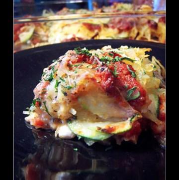 """Zucchini and Spaghetti Squash """"Lasagna"""""""
