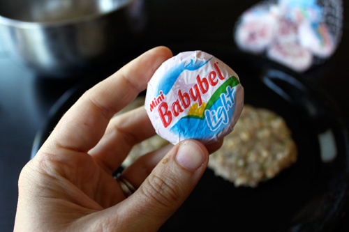 Bacon Cheese Inside Out Turkey Burgers - babybel