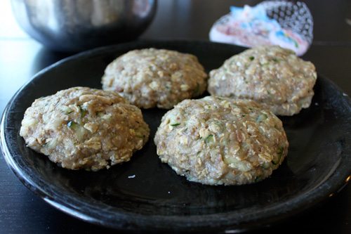 Bacon Cheese Inside Out Turkey Burgers - ready to cook