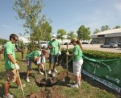 The initiative, the largest tree planting program in sports, debuted at 11 tracks in the 2009 Sprint Cup season, and in 2010, expanded to plant more than 1,000 trees to balance the carbon produced by racing.