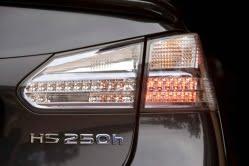 Lexus HS 250h hybrid electric car