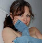 Julie Longyear blogging from her bathtub