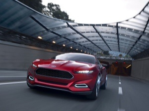Four-door, four-seat fastback concept with state-of-the-art lithium-ion plug-in hybrid electric vehicle by Ford.