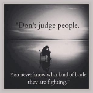 Don't Judge People with depression please