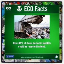 Plastic pollution. 80 Percent of what most people throw away can be recycled!! www.TerraCycle.com