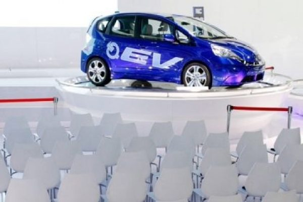 When Honda Motor (HMC) introduced its all-electric Fit EV in July 2012, it set a modest goal of delivering 1,100 of the lease-only cars in two years. Yet through May, the company had found just 176 takers for the plug-in. Consumers also didn't leap to pay $389 a month for a subcompact. I mean for one that can go only about 82 miles before it needs recharging.  That's especially when the gas-powered version gets 30 miles a gallon and costs half as much