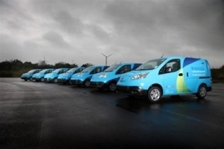 NISSAN AND BRITISH GAS LAUNCH UK LARGEST EVER ELECTRIC COMMERCIAL VEHICLE PILOT, Nissan Leafl