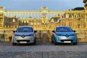 Renault Zoe celebrates first birthday in style at Versailles