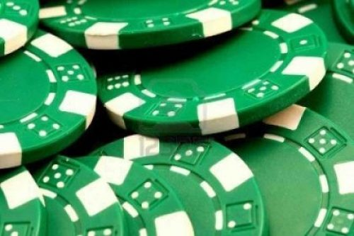 Green Casino Chips made from Recycled Plastic