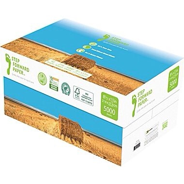Staples again marks an important step forward in the protection of forests with the launch of the first high-quality and affordably priced straw-basedcopy paper in the U.S., Step Forward Paper™ available exclusively on Staples.com and for order in Staples stores, through in-store kiosks.